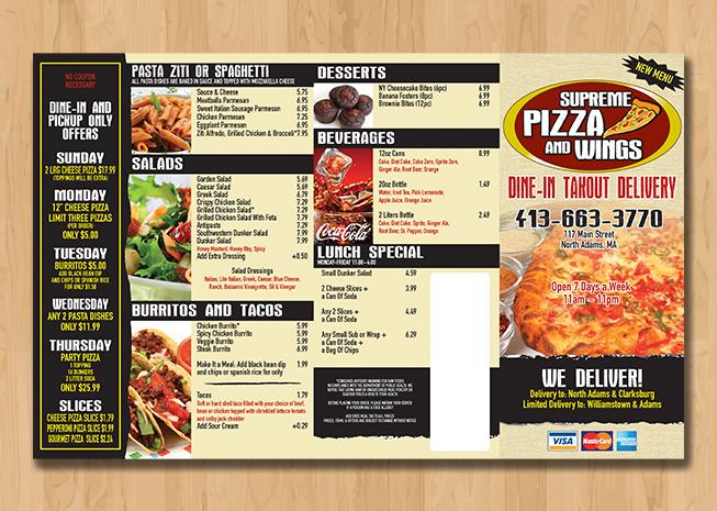 B Amp F Pizza Take Out Menu Boston Web Power